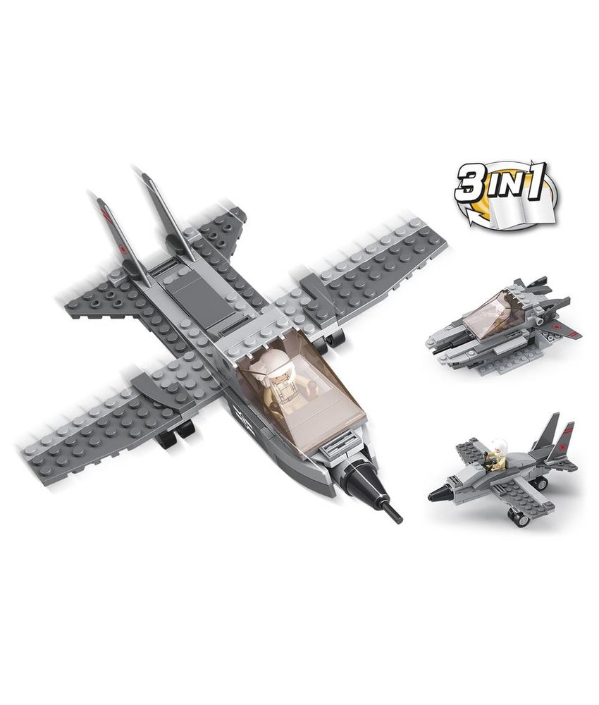 Sluban Fighter Jet 3-in-1 M38-B0537I