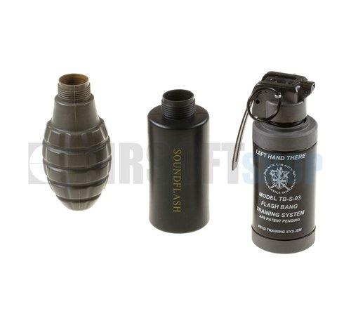 Thunder-B Sound Grenade Set Pineapple Shell