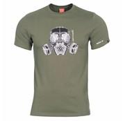 Pentagon Gas Mask T-Shirt (Olive)