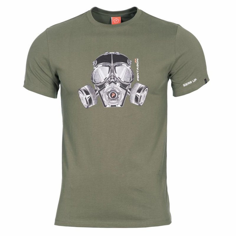 Pentagon Gas Mask T-Shirt (Olive)