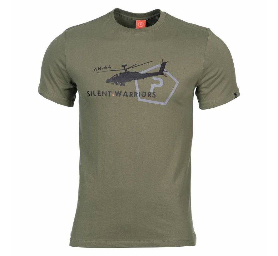 Helicopter T-Shirt (Olive)