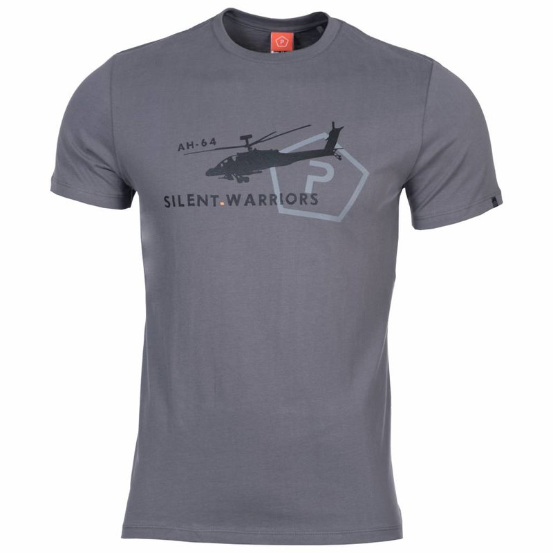 Pentagon Helicopter T-Shirt (Wolf Grey)