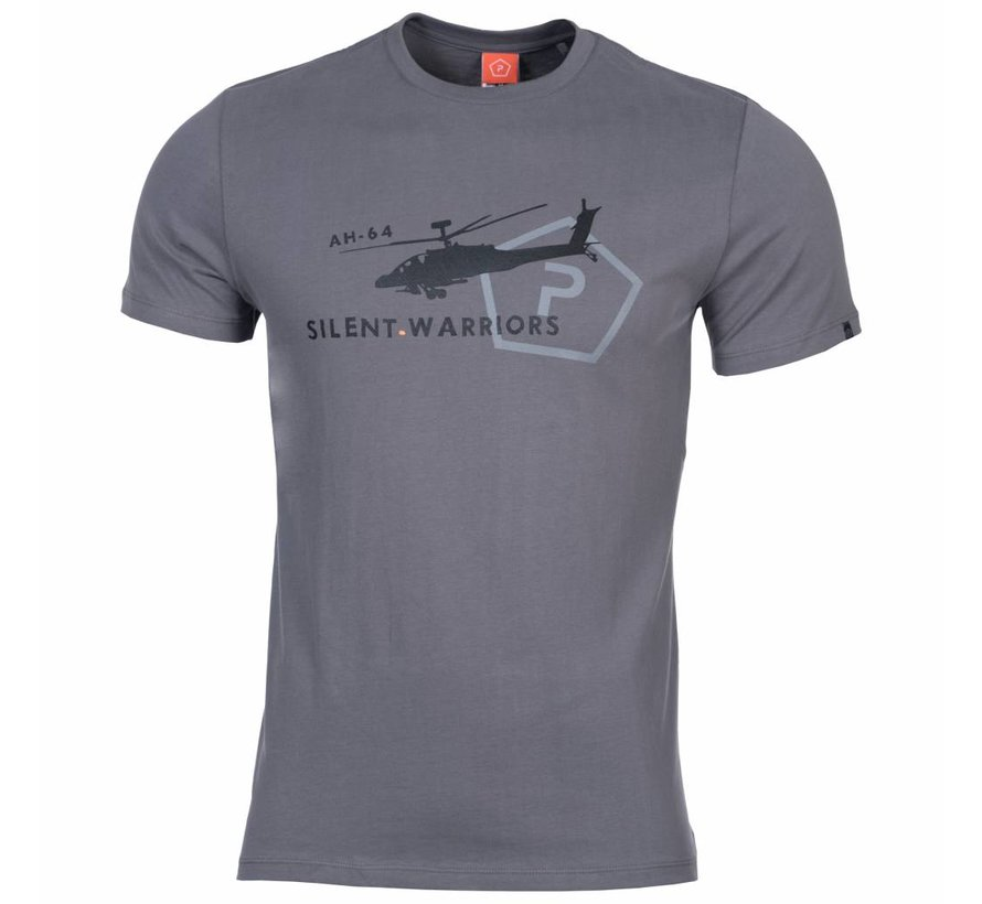 Helicopter T-Shirt (Wolf Grey)