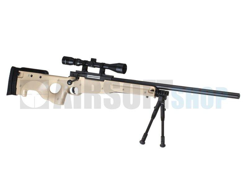 WELL L96 Sniper Set (Tan) 550 FPS