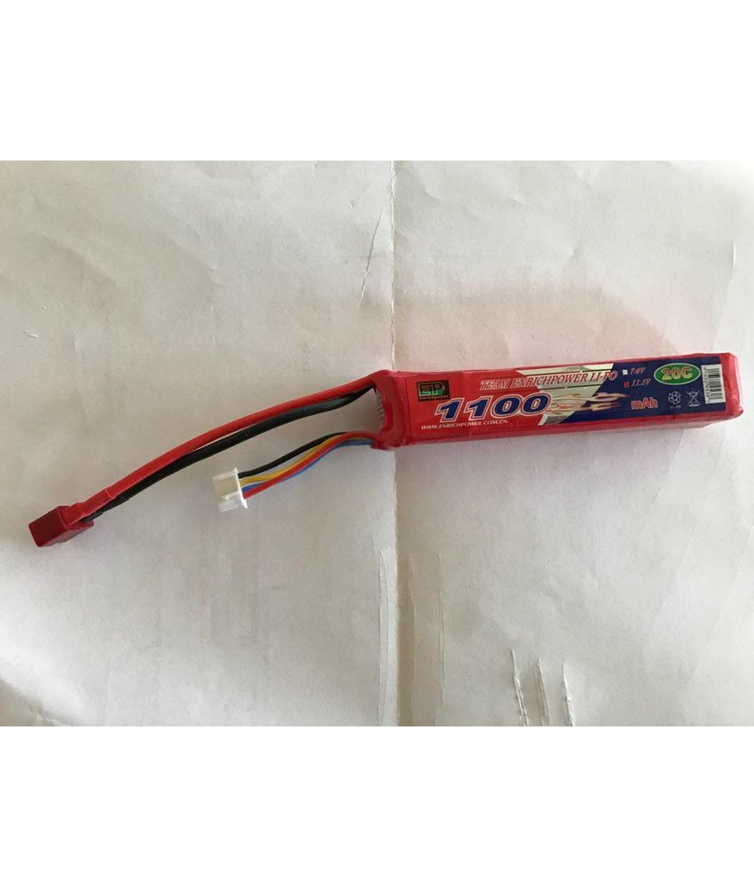 Enrichpower LiPo 11.1V 1100mAh 20C Stick Type (Deans)