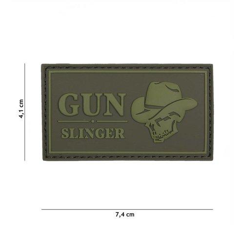 101 Inc Gun Slinger Skull Cowboy Patch (Olive)