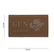 101 Inc Gun Slinger Skull Cowboy Patch (Coyote)