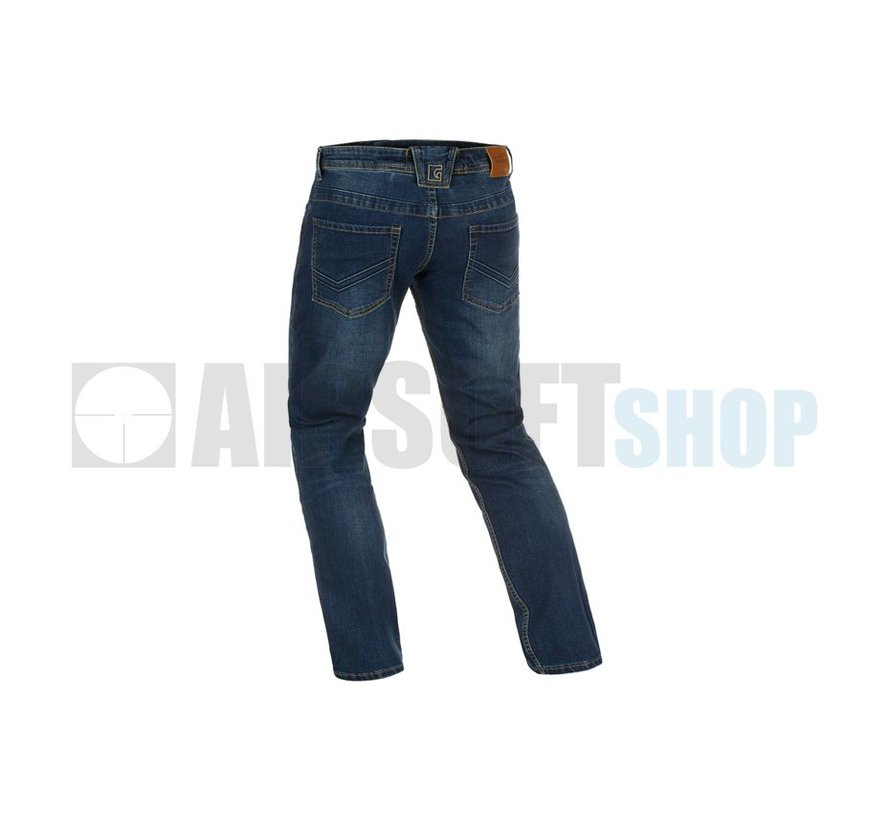 Blue Denim Washed Tactical Flex Jeans (Sapphire)