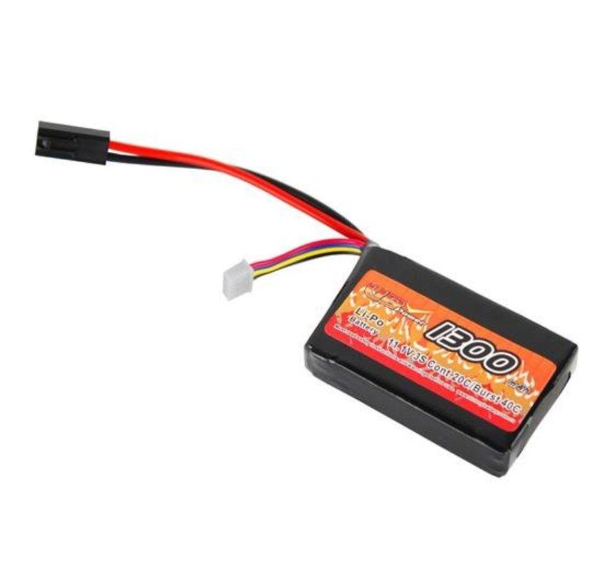 LiPo 11.1V 1300mAh 15C Mini Type