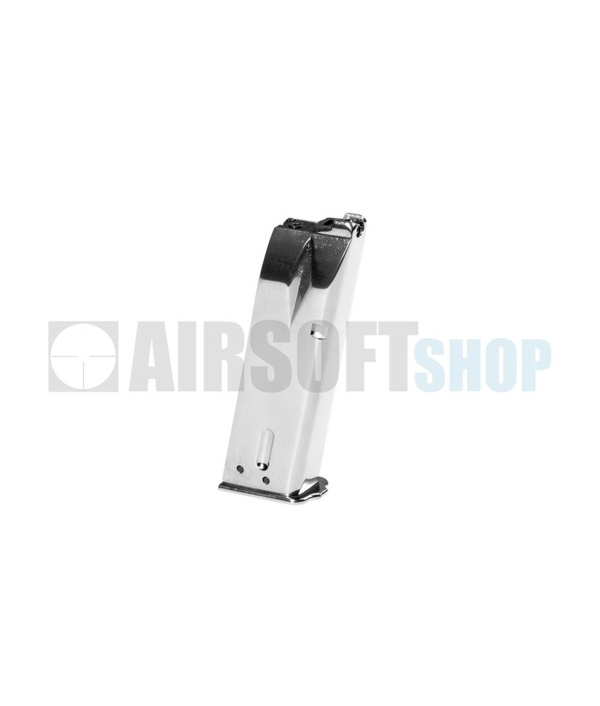 WE BN Hi-Power Silver GBB Mag (20rds)