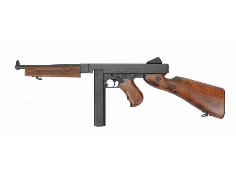 King Arms Thompson M1A1 Military Metal - REAL WOOD