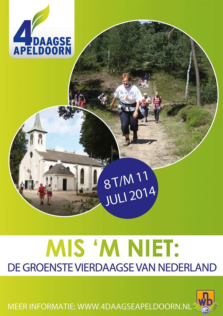 4daagse Apeldoorn, mis 'm niet
