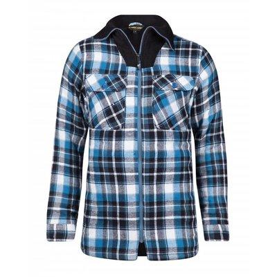 Life-Line Peter - Heren Flanel Shirt in Blauw