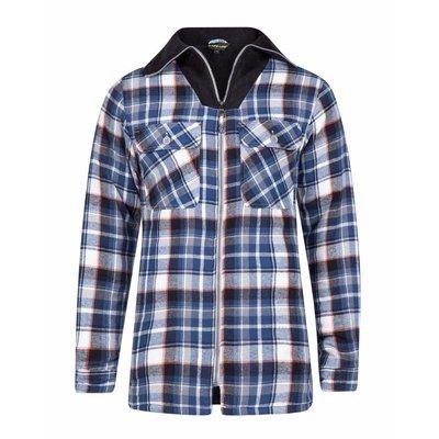 Life-Line Peter - Heren Flanel Shirt in Grijs