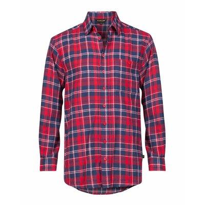 Life-Line Anton - Heren Flanel Shirt in Rood