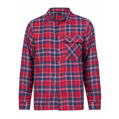 Life-Line Dirk - Gevoerd Shirt in Rood
