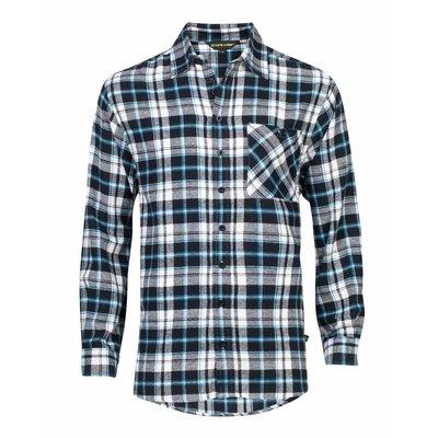 Life-Line Anton - Heren Flanel Shirt in Blauw