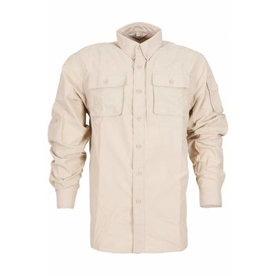 Life-Line Guide - Heren Long Sleeve Shirt in Greige