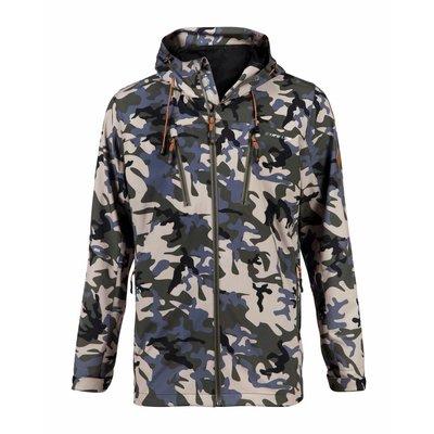 Life-Line Colin Heren Softshell Jacket in Beige & Leger Groen