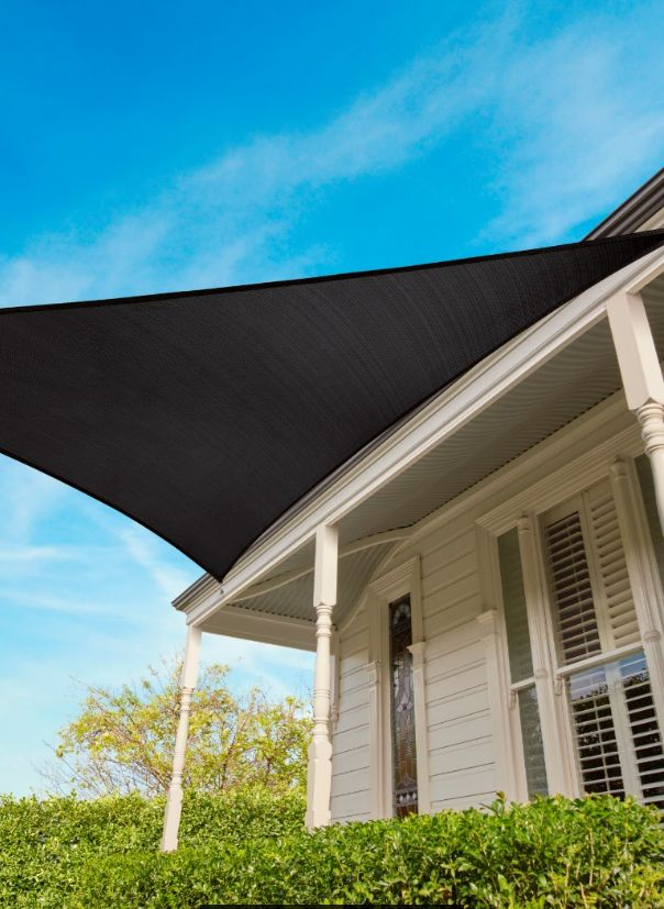 coolaroo shade sail triangle graphite 65 m 15 yr commercial