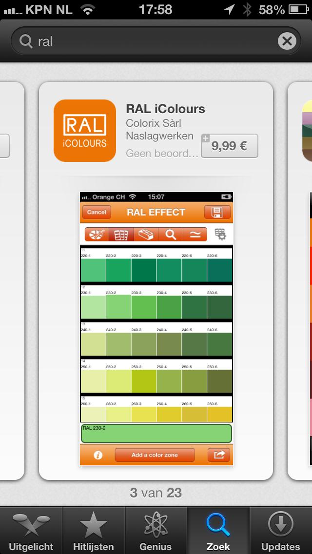 RAL color app