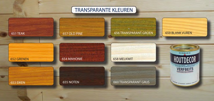 Hermadix Houtdecor Verfbeits Transparant - Verfwebwinkel.nl