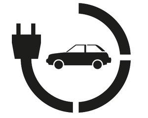 Rust-Oleum Oplaadpunt electrische auto 45x40cm