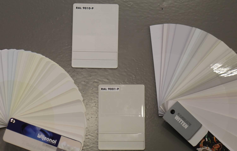 Witte verf: RAL 9001, RAL 9010 of meer mogelijkheden ...