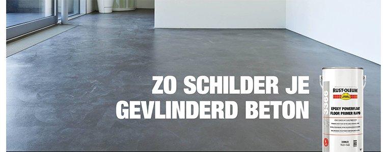 Hoe schilder je gevlinderd beton? Je gevlinderde vloer in je ...