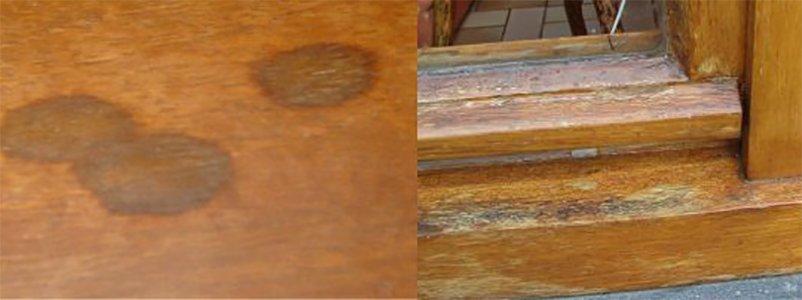 Zwarte vlekken uit eikenhout verwijderen