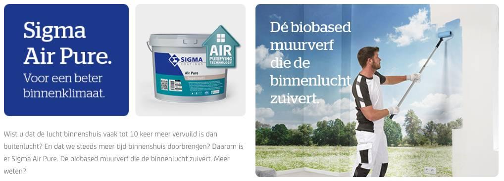 Sigma Air Pure: duurzame verf voor beter binnenklimaat