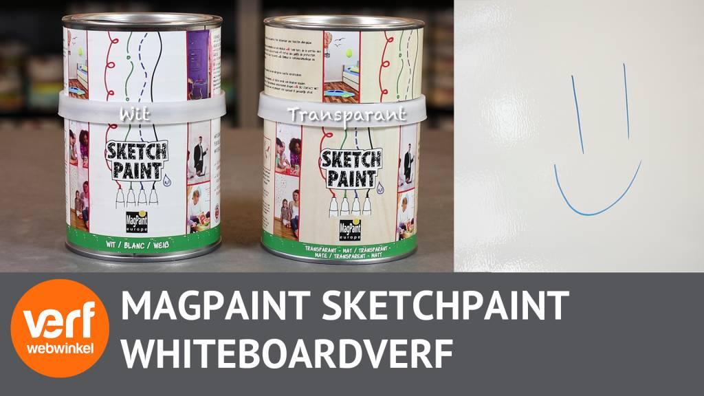 Tover muren om tot tekenpapier met whiteboardverf