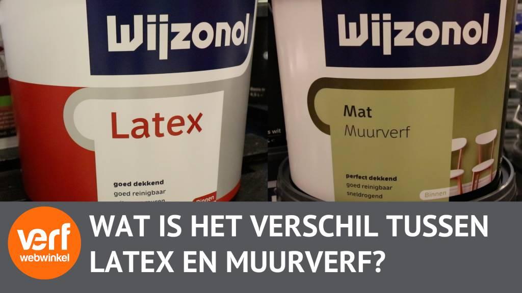 Wat is het verschil tussen muurverf en latex?