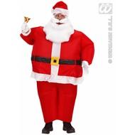 Kerstkleding: Opblaasbaar kerstmannenkostuum