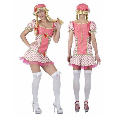 Vrijgezellen jurkje: Strawberry-girl