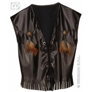 Party-kostuum: Rocker/Biker vest, lederlook