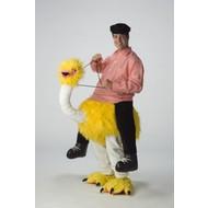 Vrijgezellenavond-outfit: Bereden Struisvogel (geel)