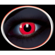 Feest-accessoires: Contactlens Flash Rood
