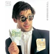 Feest toebehoren bril met Euro teken