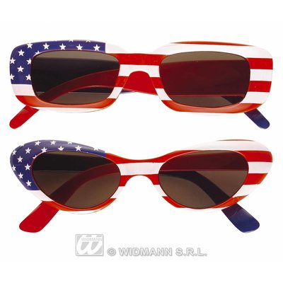 Feestbril USA met stars and stripes