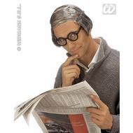"""Party-accessoires: Kale kop oude man met """"laatste"""" haar"""