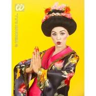 Party-accessoires Pruik, Geisha met bloem