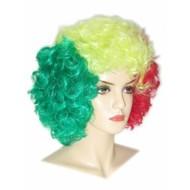 Carnaval- & feest accessoires: Hippy pruiken in vele kleuren