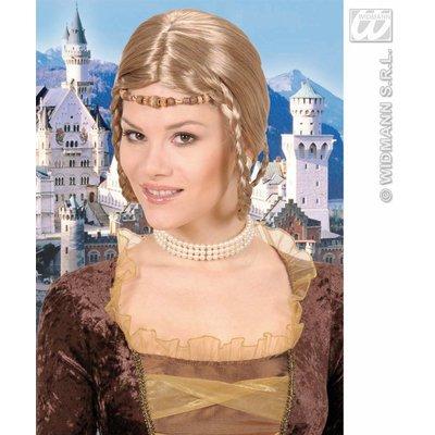 Middeleeuwse prinsessen pruik