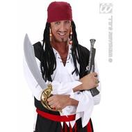 Feestpruik: Piraat bandana met dreadlocks