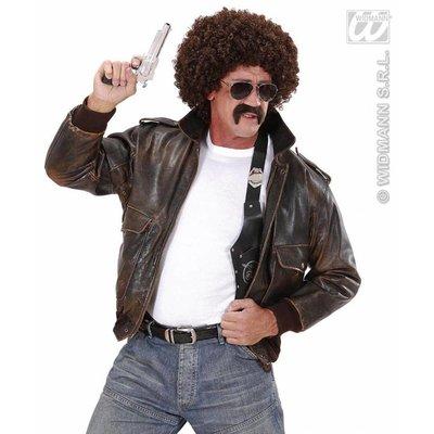 Geheim agent pruik met snor en bril