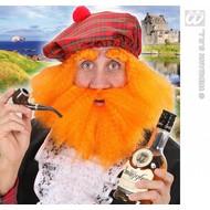 Feestaccessoires: Pruik Schotse hooglander