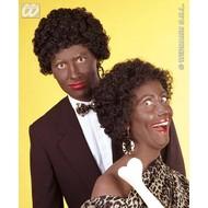 Feestaccessoires: Pruik Afro-look/Zwarte Piet