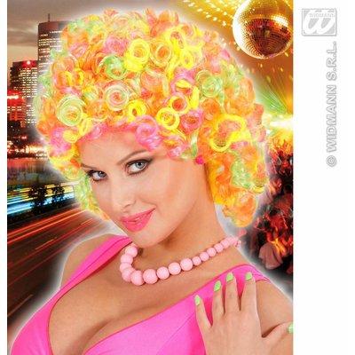 Curly mix neon pruik