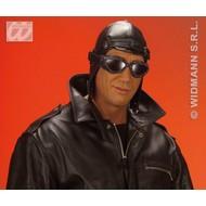 Party-accessoires: Hoed aviator, lederlook